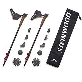 Steinwood Premium 100% Carbon Nordic Walking Stöcke verstellbar