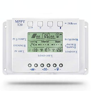 Mppt 20A Solarpanel Controller 12V 24V Solarregler Dual Timer-Funktion