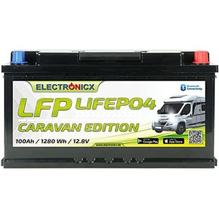 Electronicx LiFePO4 Batterie Caravan Edition 100Ah 12V