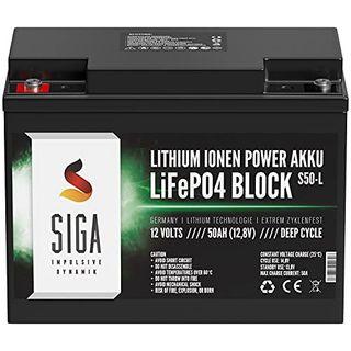 SIGA LiFePo4 Akku 12V 50Ah Lithium Batterie 12V 50Ah Lithium Akku