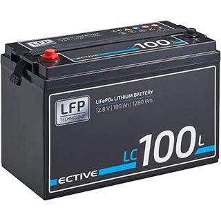 ECTIVE LC100L 12V 100Ah 1280Wh LiFePo4 Lithium-Eisenphosphat
