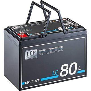 ECTIVE LC80L 12V 80Ah 1024Wh LiFePo4 Lithium-Eisenphosphat