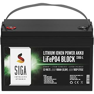 SIGA Lithium Batterie 12V 100Ah LIFEPO4 100Ah 12V Lithium