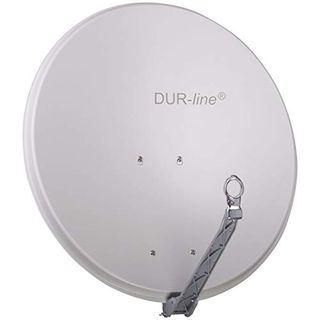 DUR-line Select 85cm x 90cm Alu Satelliten-Schüssel Hellgrau