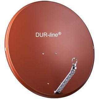 DUR-line Select 85cm x 90cm Alu Satelliten-Schüssel Rot
