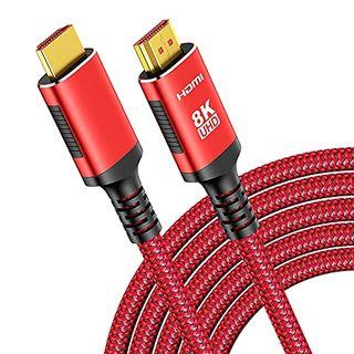 3m 8K Hdmi 2.1 Kabel- Snowkids 8K@60HZ & 4K@120HZ 7680P 2.1 Hdmi Ethernet Kabel