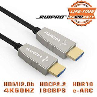 RUIPRO Hdmi 2.0 Glasfaser Kabel 10m Aktives Hdmi 4k Kabel