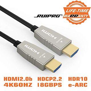 RUIPRO Hdmi 2.0 Glasfaser Kabel 30m Aktives Hdmi 4k Kabel