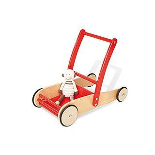 Pinolino Lauflernwagen Uli aus Holz, mit Bremssystem