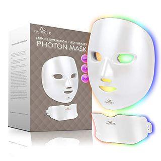 Project E Beauty Drahtlose 7 Farbe LED Maske Hals Photon Licht Hautverjüngung