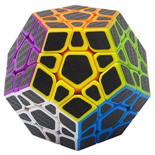 Coolzon Zauberwürfel Megaminx Speed Cube Würfel Carbon Faser