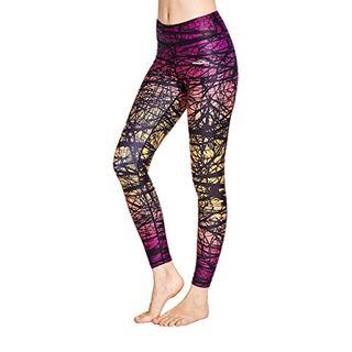 COOLOMG Damen Tights Yoga Hosen Kompression Leggings Sport