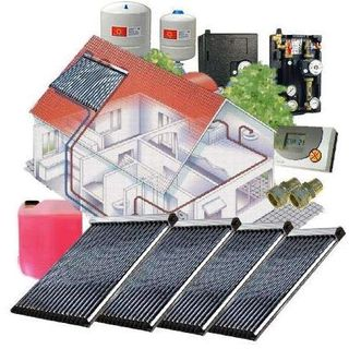 Solarpaket WT-B/30 Röhrenkollektorset 30-4 Kollektorfläche: 20,20 m²