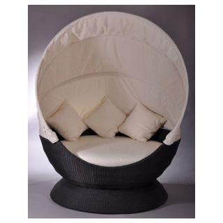 Sonneninsel Nest Lounge schwarz Liegenest Terrasse