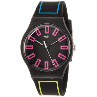 Swatch Herrenuhr Analog Quarzwerk Silikonband SUOB146
