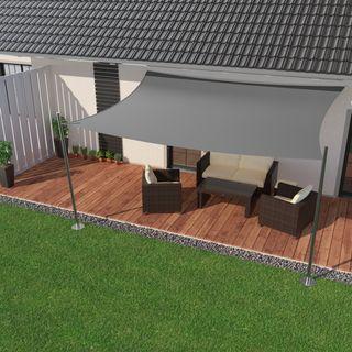 IBIZSAIL Premium Sonnensegel Viereck (rechteckig)