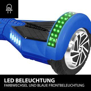 Robway W2 Hoverboard - Das Original - Samsung Marken Akku - Self Balance - Bluetooth - 2 x 350 Watt Motoren – 8 Zoll Räder (Blau Matt)