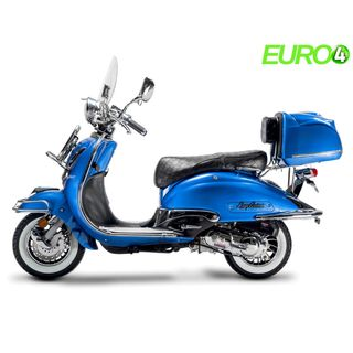 Retro Roller Easy Cruiser Chrom 50 ccm 45 kmh blau