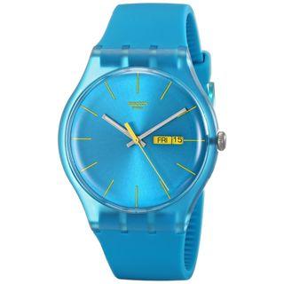 Swatch Damen-Armbanduhr Turquoise Rebel SUOL700