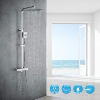 Auralum Chrom Dusche Duschsystem
