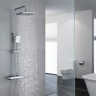 Umi Essentials Duschsystem mit Thermostat Regendusche Duschset Duscharmatur Dusche
