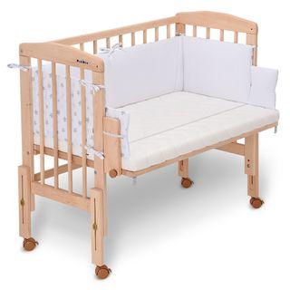 FabiMax Beistellbett PRO mit Matratze Comfort und Nestchen Sterne klein