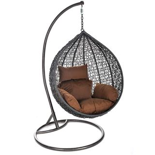 Home  Deluxe Polyrattan-Hängesessel CIELO