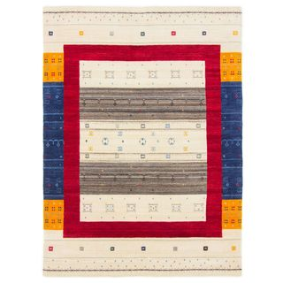 CarpetFine: Gabbeh Sofia Teppich 140x200 cm Beige