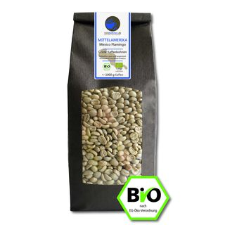 Bio Rohkaffee Arabica Mexico Flamingo 1000g
