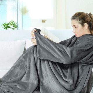 Snuggle Decke Mit ärmeln.Josechan Tv Decke Flanell Kuscheldecke Mit Armeln Im Kuscheldecke