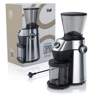 Arendo elektrische Kaffeemühle mit Kegelmahlwerk in Edelstahl