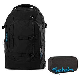 Satch Schulrucksack-Set 2-tlg Pack Black Bounce 801 schwarz