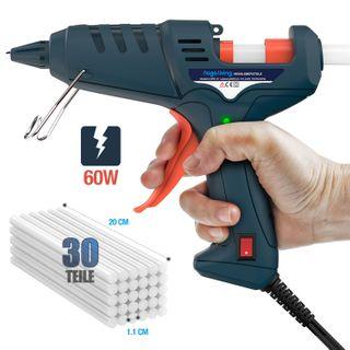 Nagaliving Heißklebepistole Nagaliving 60 Watt Schnelle Heizung Klebepistole