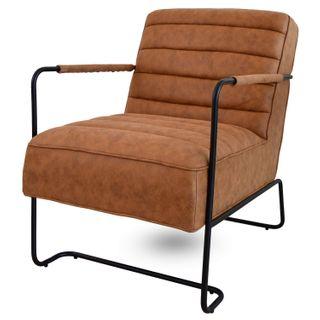 Damiware James Relaxsessel Fernsehsessel Sessel in Mikrofaser Leder