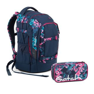Satch Pack Awesome Blossom Schulrucksack Set 2tlg