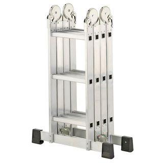 MCTECH 6 in 1 Anlegeleiter 340/ 470cm Mehrzweckleiter Aluminium