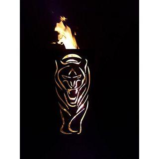 Tiko-Metalldesign Feuerkorb mit Tiger Motiv
