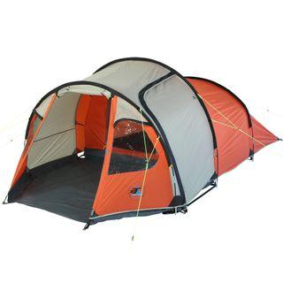 10T Zelt Mandiga Orange 3 Mann Tunnelzelt wasserdichtes Campingzelt