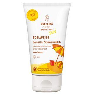 Weleda Edelweiss Sensitiv Sonnenmilch Baby & Kind LSF 30
