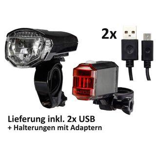 ChiliTec Akku Fahrrad LED-Beleuchtungsset