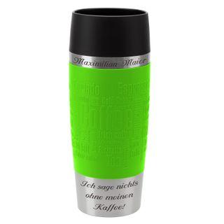 Emsa Thermobecher Travel Mug mit persönlicher Rund-Gravur Edelstahl 360 ml