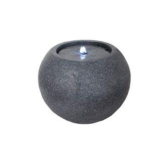 Arnusa Gartenbrunnen Kugel mit LED Beleuchtung Springbrunnen Modern Zimmerbrunnen Wasserpiel