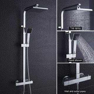 BONADE Duschsystem thermostat regendusche Duschset