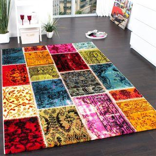 Teppich Modern Designer Teppich Patchwork Vintage Multicolour