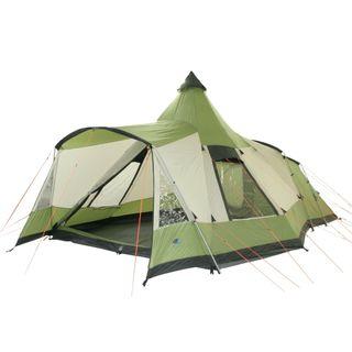 10T Campingzelt Navaho 5 wasserdichtes Tipi Tunnelzelt 5 Mann