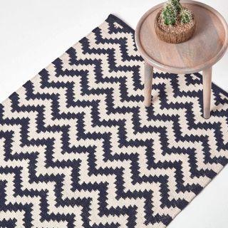 HOMESCAPES Kelim-Teppich Casablanca aus 100% Baumwolle handgewebt