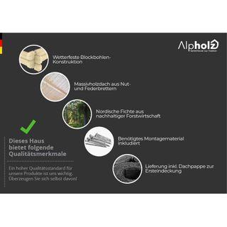 Alpholz Gartenhaus Dinant aus Fichten-Holz