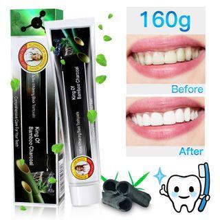 Aktivkohle Zahnpasta 160g Bamboo Charcoal Whitening