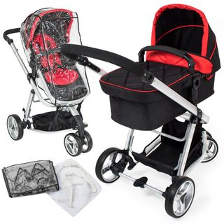 TecTake 3 in 1 Kinderwagen Kombikinderwagen Buggy Babyjogger Reisebuggy