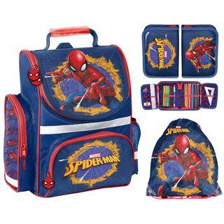 Schulranzen Set 3 teilig Ranzen Tornister Jungen Spiderman